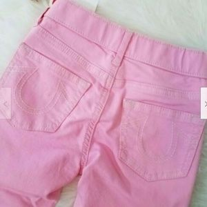 True Religion Pull On Jeans Sz 5 Pink A1